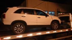 Carro foi guinchado e levado a Delegacia de Videira