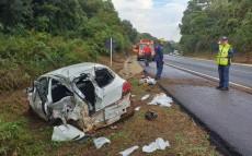 Motorista do carro foi levado ao hospital de Xanxerê
