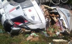 Motorista saiu ileso do acidente