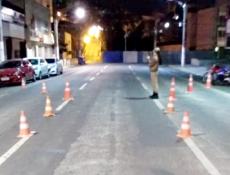 Blitz foi realizada na final de semana no centro de Joaçaba