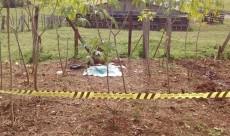 Local onde o corpo do bebê foi enterrado