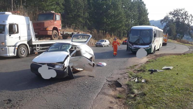 Motorista do Gol foi conduzida ao hospital